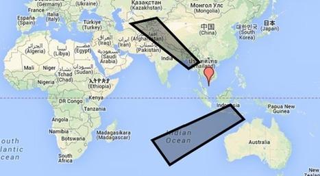Malaysia Airlines: les nouvelles zones de recherche du vol MH 370 ... | Vol MH370 | Scoop.it