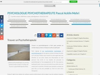 Pascal acklin mehri, un psychologue sur paris. | Annuaire SeObjectif | Scoop.it
