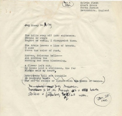 Sylvia Plath's 'Sheep in Fog' Drafts | Arobase - Le Système Ecriture | Scoop.it