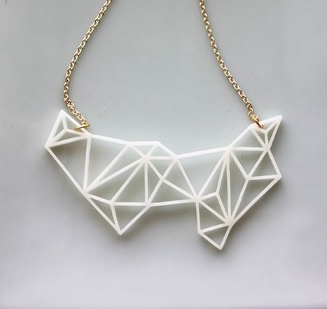 Geometric Necklace - Modern Minimalist Triangle and Prism Necklace | Clever Etsy Favorites | Scoop.it