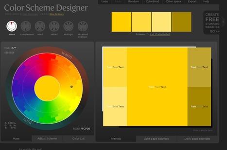 Color Scheme Designer 3 | Web Design & Development | Scoop.it