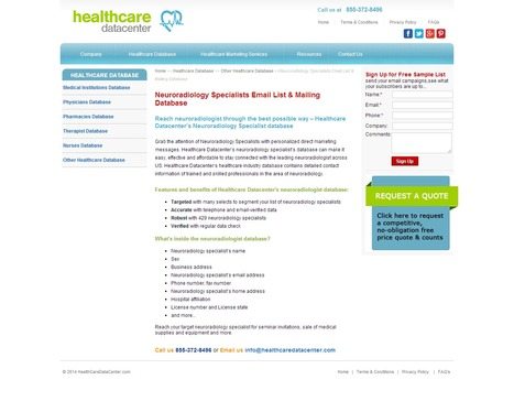 Neuroradiology Specialists Mailing List from Healthcare Datacenter | Healthcare Datacenter | Scoop.it
