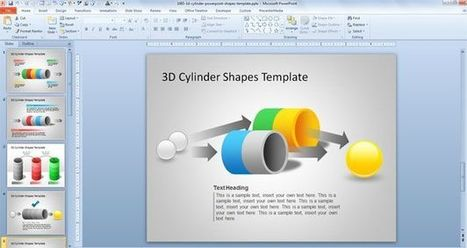 Free 3D Cylinder PowerPoint Shapes Template | cylinder | Scoop.it