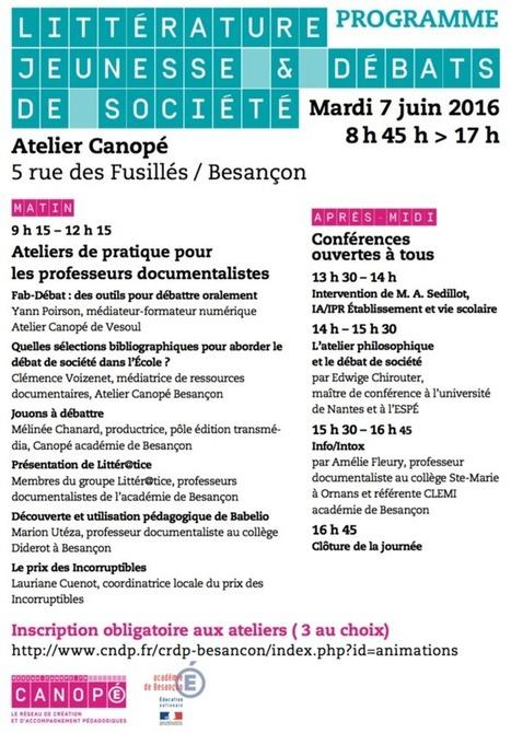 Atelier Canopé 25 - Besançon: Journée Littérature jeunesse et débats de société | Petites sélections pour un bon usage de la littérature au lycée | Scoop.it