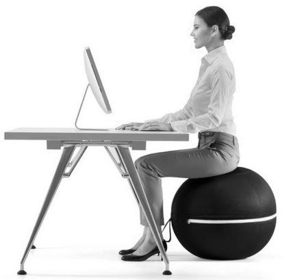 le ballon pilates au bureau pilates scoop. Black Bedroom Furniture Sets. Home Design Ideas