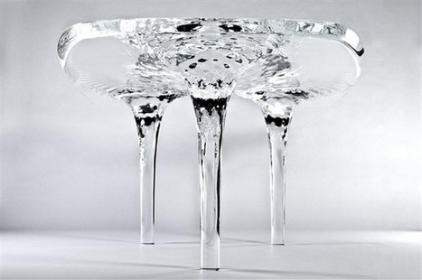 Liquid Glacial Table by Zaha Hadid » DESIGNS AND PROJECTS | CRAW | Scoop.it