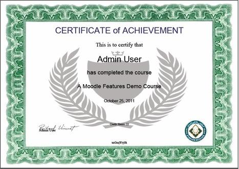 Review: Certificate Module for Moodle 2 | MoodleUK | Scoop.it
