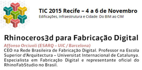 VisualARQ at the TIC 2015 Recife - Workshop on Digital Fabrication | VisualArq. Free-form 2D & 3D architecture modeling tools for Rhinoceros. | Scoop.it
