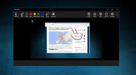 Microsoft lanza Snip y Windows 10 por fin tiene un gestor de capturas a la altura | Pedalogica: educación y TIC | Scoop.it