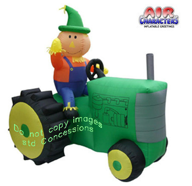 Thanksgiving Inflatables - Turkey Inflatables - Fall Inflatables - Scarecrow on Tractor | standardconcession | Scoop.it