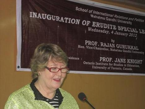 The Hindu : States / Kerala : Internationalisation of higher education has expanded dramatically: Prof. Jane Knight | Cross Border Higher Education | Scoop.it