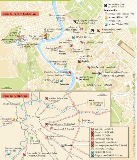 Une carte des films tournés à Rome | Géographie et cinéma | Scoop.it