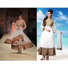 White Soft Net Anarkali Gherdar Bollywood Designer Salwar Kameez | Salwar Kameez | Scoop.it