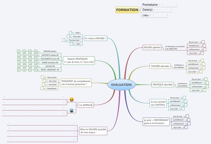 Une mindmap pour l'évaluation de vosformations | TIC et TICE mais... en français | Scoop.it
