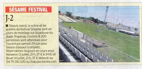 Sésame Festival !! Article paru dans le Dauphiné Libéré du 27 juin | Montélimar Agglo Festival 2014 | Scoop.it