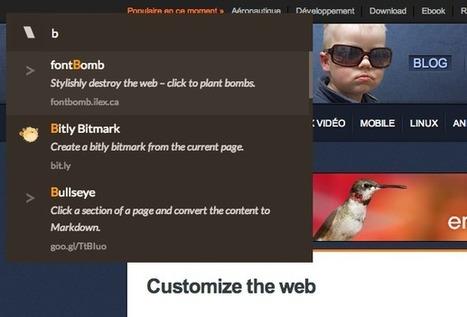 Un extension Chrome pour regrouper tous vos bookmarklets   webmarketing   Scoop.it