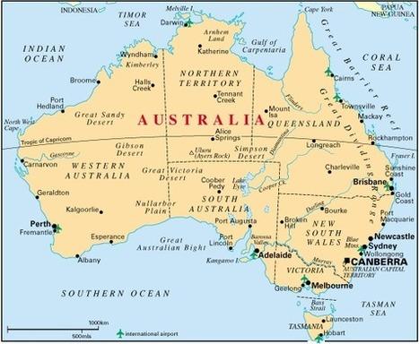carte-australie.gif (560x460 pixels)   Le Koala   Scoop.it