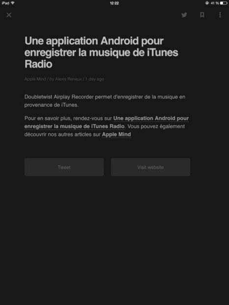 Feedly s'offre un nouveau design sur iPad | Apple : Mac, iPhone, iPad | Scoop.it