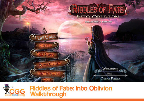 Riddles of Fate: Into Oblivion Walkthrough: From CasualGameGuides.com | Casual Game Walkthroughs | Scoop.it