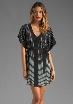 AKIKO Short Sleeve Print Dress in Etched Shadow at Revolve Clothing - Free Shipping! | GonPin.me | My Fasion 101 | Scoop.it