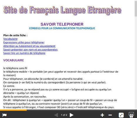 Savoir téléphoner - FLE | FLE, TICE & éducation aux médias | Scoop.it