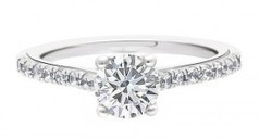 carmen engagement ring is a round brilliant diamond with diamond band | Engagement rings Dublin Blog. | Scoop.it