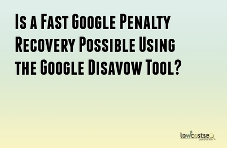 Is a Fast Google Penalty Recovery Possible Using the Google Disavow Tool? | LOWCOSTSEO.CO | Scoop.it