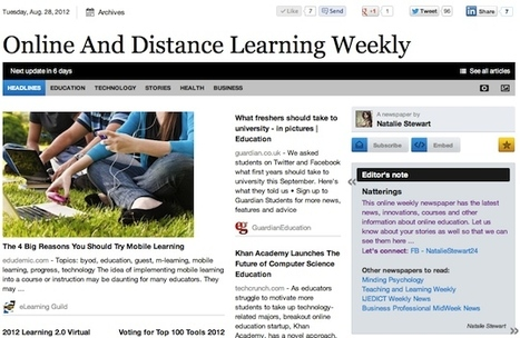 Aug 28 - Online And Distance Learning Weekly | Studying Teaching and Learning | Scoop.it