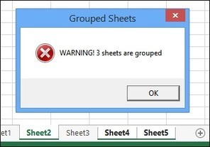 Warning For Grouped Sheets | Contextures Blog | FrankensTeam's Excel Collection | Scoop.it