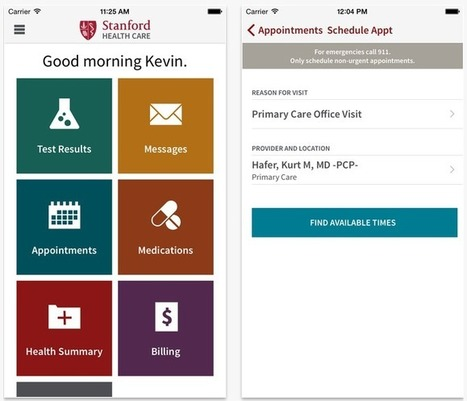 Stanford launches its HealthKit- and Epic-connected MyHealth app | Mobile Health: How Mobile Phones Support Health Care | Scoop.it