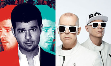 """Pet Shop Boys take on Robin Thicke for Number 1 album 