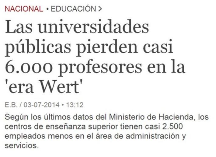 Recortes en universidades. Tweet from @itoguille   Partido Popular, una visión crítica   Scoop.it