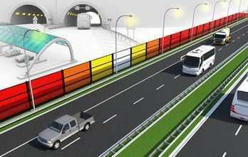 Start of test with solar energy generating noise barriers alongside highway | News we like | Scoop.it