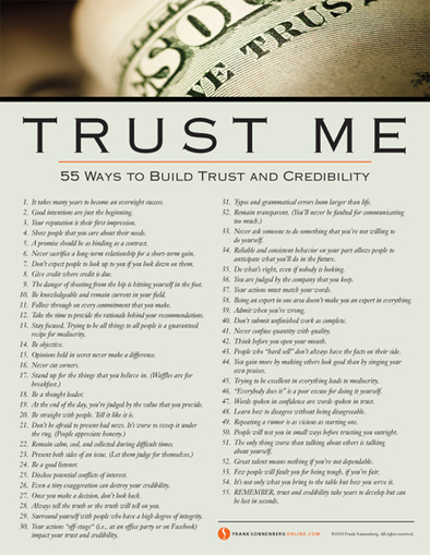 Trust Me: 55 Ways to Build Trust and Credibility | Better teaching, more learning | Scoop.it