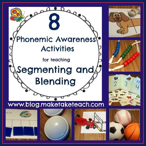 8 Great Ideas for Teaching Segmenting and Blending | Make, Take ... | Phonemic awareness, and alphabetic principle games | Scoop.it