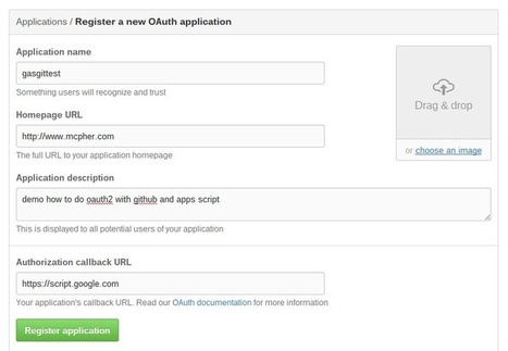 Step by Step - Apps Script Oauth2 authentication with Github - Desktop Liberation | Google Apps Script | Scoop.it