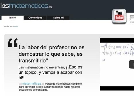 Aprender matemáticas online | Las TIC y la Educación | Scoop.it