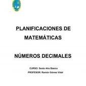 PLANIFICACIÓN DE DECIMALES | Matemáticas Aplicadas | Scoop.it