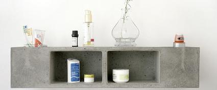 Béton pour salle de bain, étagère par Sascha Czerny - Blog Esprit Design | Le béton créatif et poétique | Scoop.it