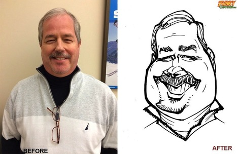 Our latest caricature Photo To Caricature Example | Custom Caricatures | Scoop.it