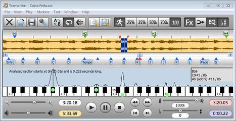 Transcribe! – Logiciel pour transcrire la musique | Apprendre la guitare et la musique avec des logiciels éducatifs | Scoop.it