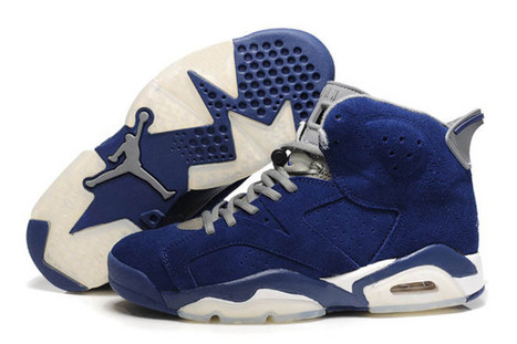 Air Jordan 6 Suede - Grey and Blue White   share and want   Scoop.it