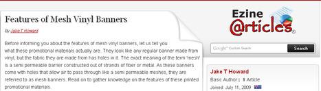 Features of Vinyl Mesh Banners | Plastic Printing Pty Ltd | Scoop.it