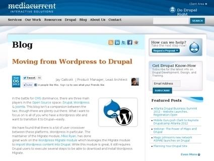 Migrer de WordPress à Drupal | Agence Oui | Scoop.it