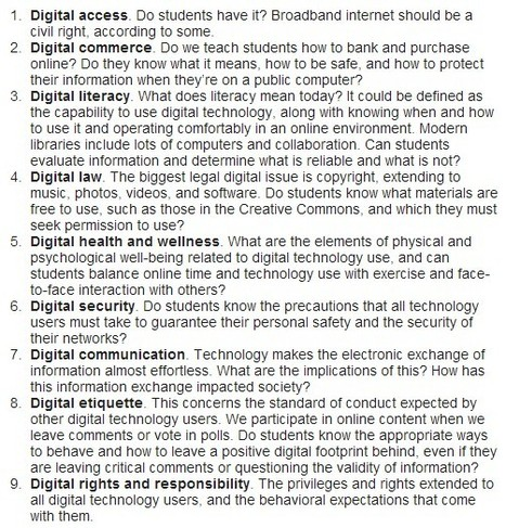 9 digital citizenship considerations | 21st century Learning Commons | Scoop.it