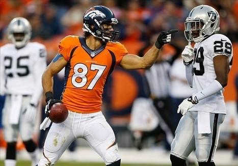 Eric Decker Leads Broncos Receivers Again in Win Over Raiders - Predominantly Orange | Fantasy Football 1 on 1 | Scoop.it