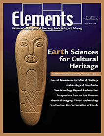 Earth Sciences for Cultural Heritage - ELEMENTS MAGAZINE | Mineralogy, Geochemistry, Mineral Surfaces & Nanogeoscience | Scoop.it