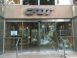 Loi travail : le siège parisien de la CFDT dégradé en marge d'une manifestation sauvage | socioquid.fr | Scoop.it