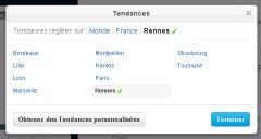 Twitter intègre 10 villes françaises aux Trending Topics | Web Side Story | Scoop.it
