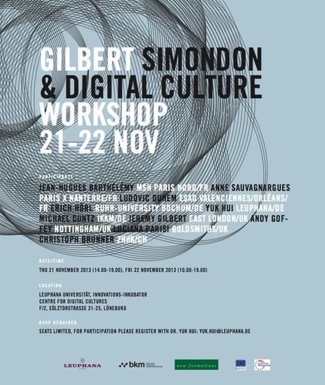 Audio Proceedings of the Workshop Simondon and Digital Culture | Cogmach | Scoop.it